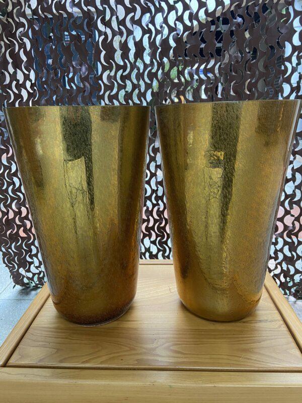 Constantini - Paire de vase doré