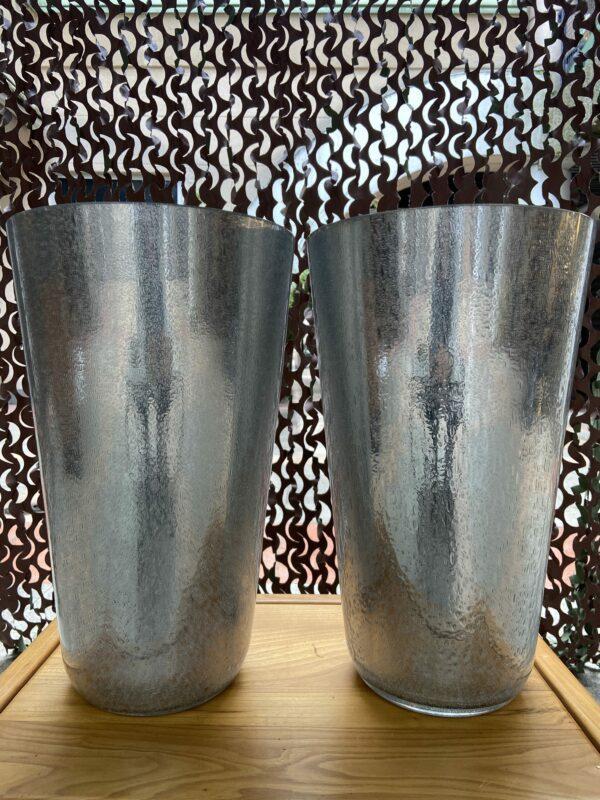 Constantini - Paire de vases argentés