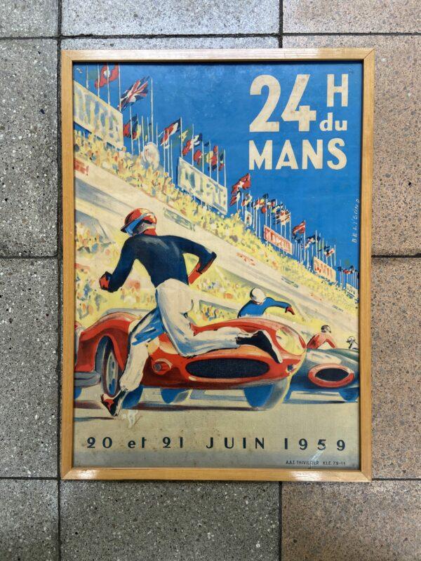 Affiche 24h du Mans – Michel Beligond