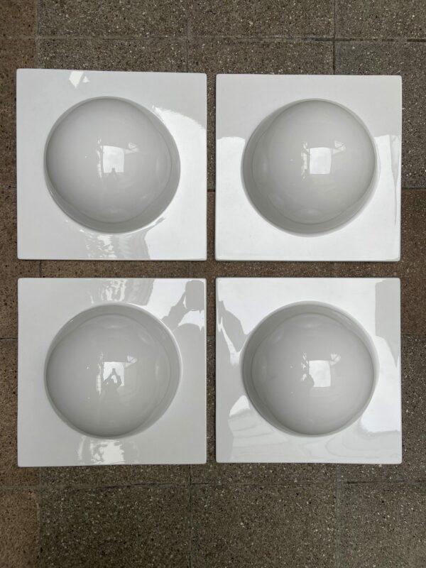 Verner Panton - 4 éléments de décoration murale