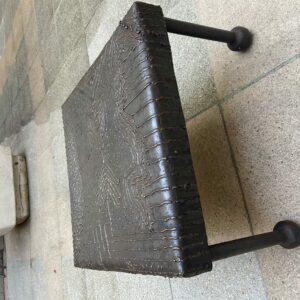 "Alexandre Babeanu - Petite table métal ""Sandou""."