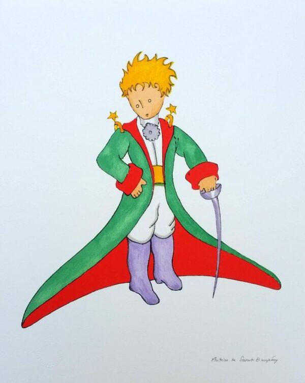 Antoine DE SAINT-EXUPERY (d'après) - Le Petit Prince en costume, 2009 - Lithographie