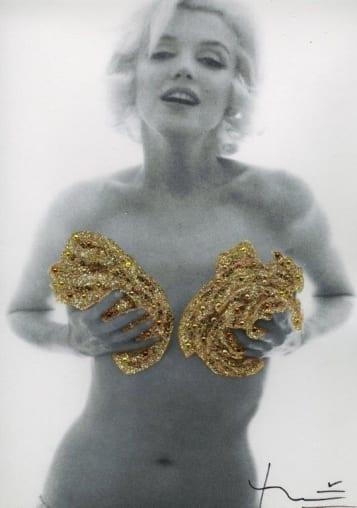 Bert STERN - Marilyn, Classic Gold Roses - 1962 - signée