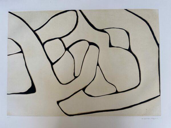 Conrad Marca-Relli - Composition 1 - Numéroté 43/75 - 1977