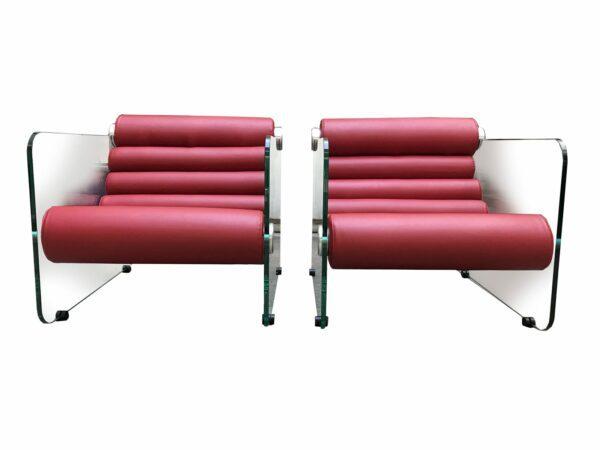 Fabio LENCI - Paire de fauteuils Hyaline - circa 1972