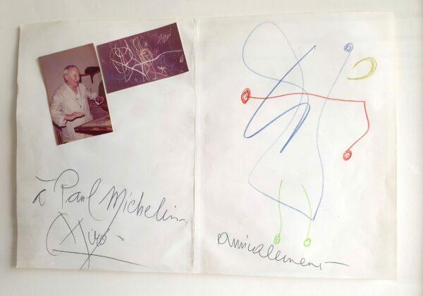 Joan MIRO - Sans Titre, 1972 - Crayons de couleur