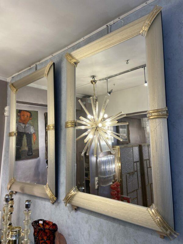 Paire de miroirs - Verre de Murano