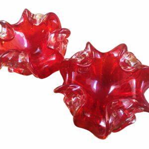 Paire vides poches rouge - Verre de Murano