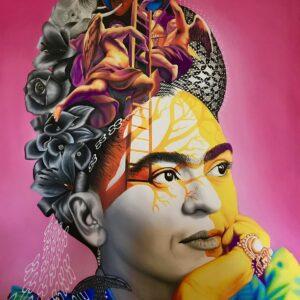 BENI - Frida, 2019 - Huile sur toile