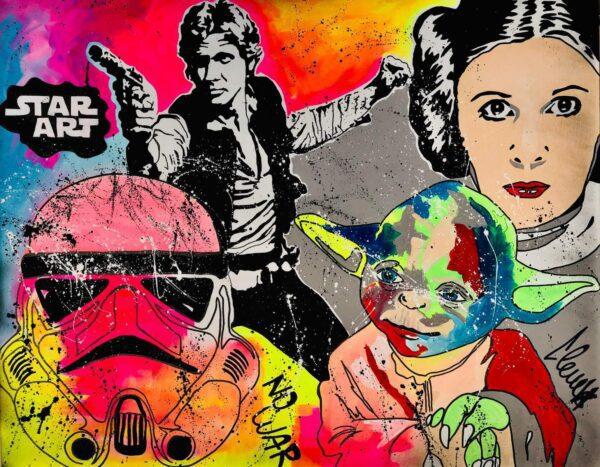 Clem$ - Star Art- 2020 - Acrylique sur toile auctionlab