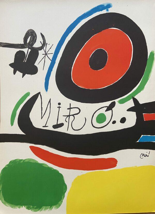Joan MIRÓ – Lithographie - Tres llibres, 1970