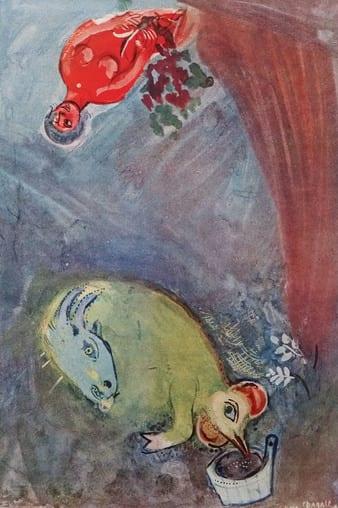 Marc CHAGALL (d'après) - Hauteur du temps, 1942 - Impression