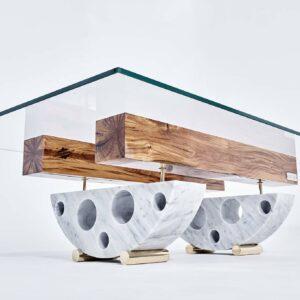 Ulysse André - Table basse marbre Valentyna