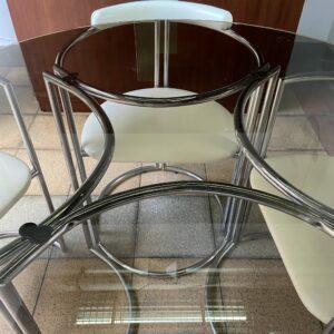 LA METAL ARREDO PADERNO DI MILANO salle à manger Table et Chaises