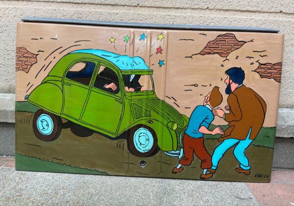 Malle arrière de 2CV- Tintin 3 - Vinc