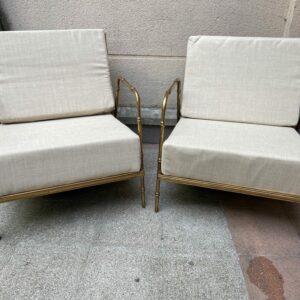 Paire de fauteuils - dans le goût de Jansen