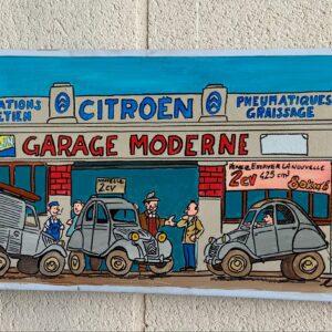 Panneau de signalisation - Garage Citroën - Vinc