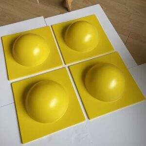 Verner Panton - 4 éléments de décoration murale jaune