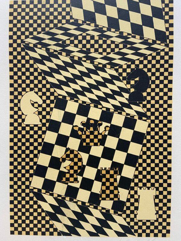 Victor Vasarely - L'Échiquier - 1935- lithographie signée