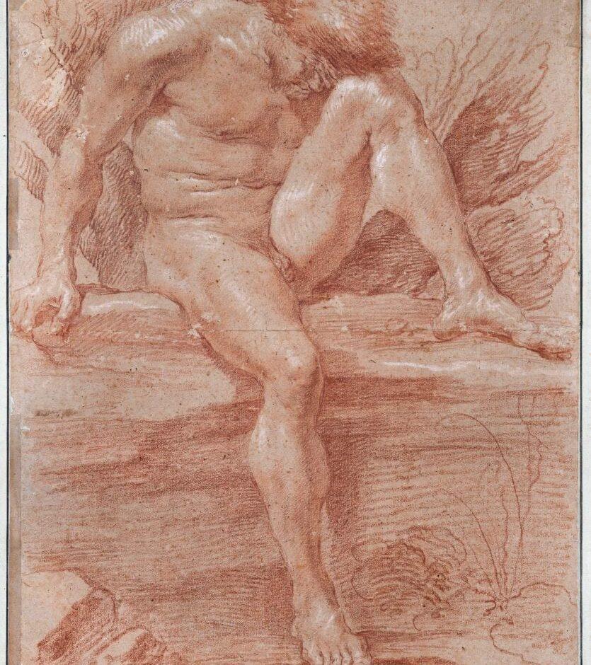 Gian Lorenzo BERNINI (1598-1680) Académie d'homme Sanguine