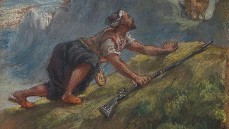 Arabe à l'affût Delacroix Christies