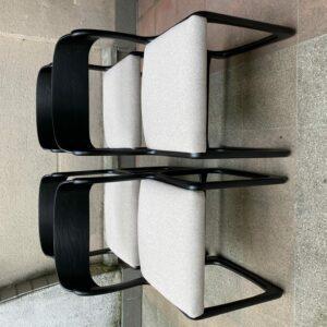 Baumann - Suite de 4 chaises Traîneau