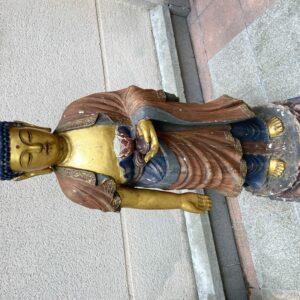 Buddha - Sculpture Bois polychromé