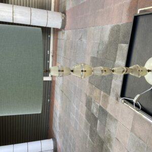 Lampe verre blanc et transparent - MURANO