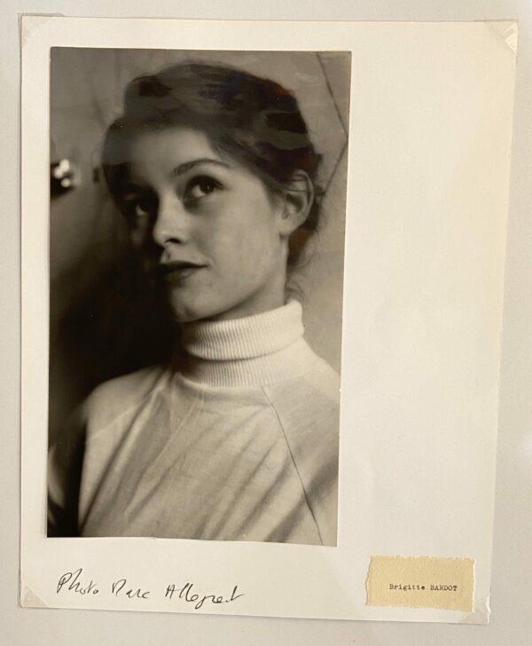 Photographie de Brigitte Bardot – Marc Allegret