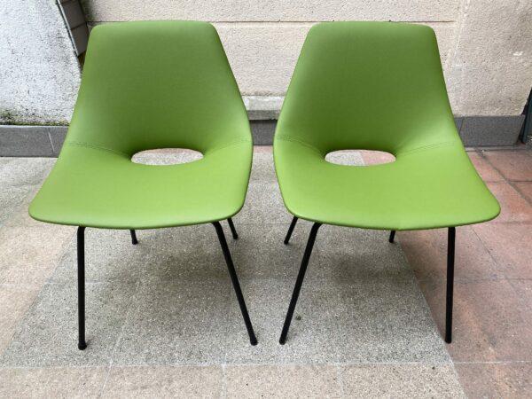 Pierre Guariche - Paire de chaises modèle Tonneau