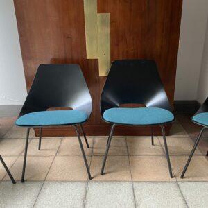 Pierre Guariche - Série de 4 chaises modèle Tonneau