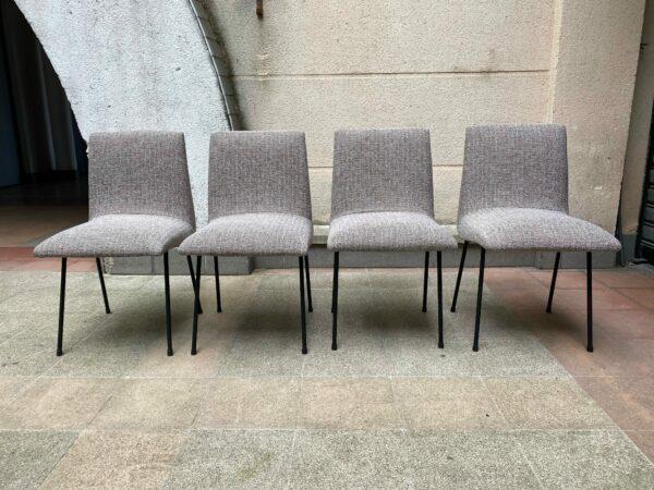 Pierre Paulin - Série de 4 chaises modèle CM145