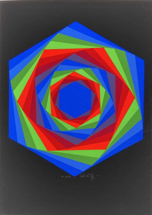 Vasarely - Cinétique 7 - Sérigraphie