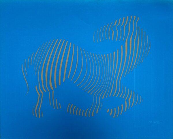 Vasarely - Zebra - Gravure en relief