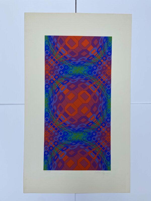 Vasarely - cinétique 1 - Sérigraphie