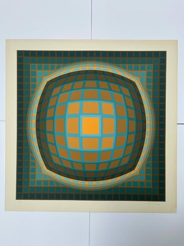Vasarely - cinétique 5 - Sérigraphie
