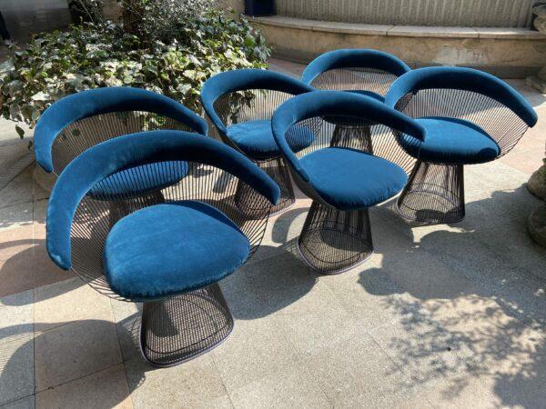 6 chaises - Warren Platner