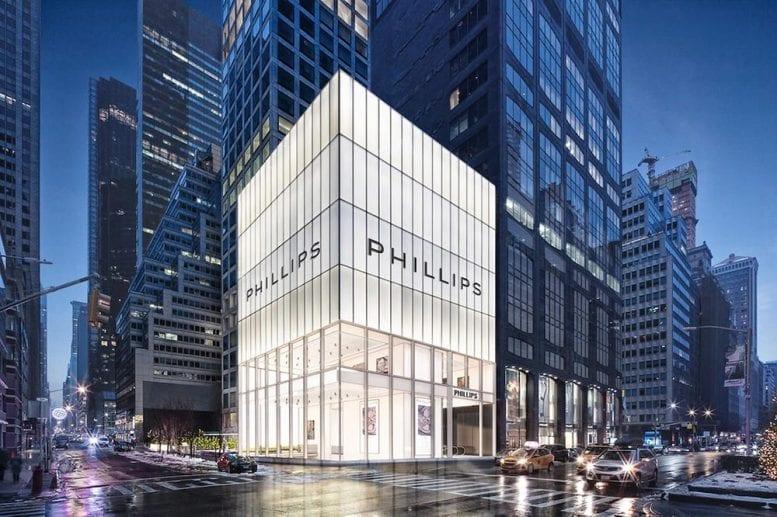 Phillips auction à Manhattan