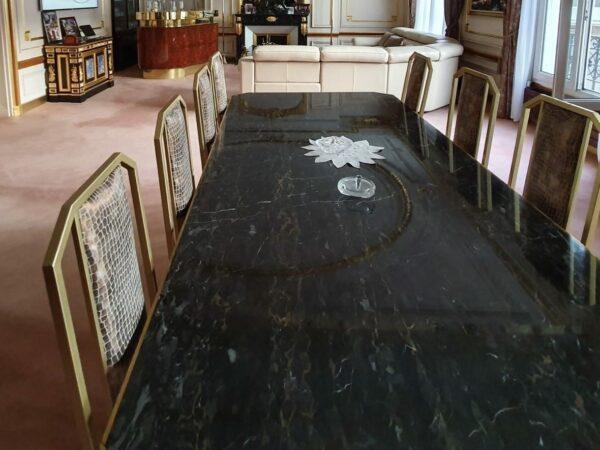 Jean Claude Mahey - Table de Salle à Manger pour Paco Rabanne