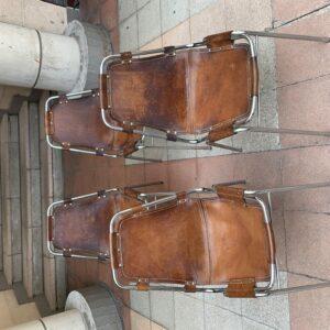 Charlotte PERRIAND - 4 chaises Les Arcs
